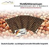 Großes Kirschkernkissen/Entspannungskissen zur Wärmebehandlung - Heizkissen für Mikrowelle (Wärmekissen) // langes Relaxkissen // Zur Wärme- oder Kältetherapie/in 18 Farben! (braun)